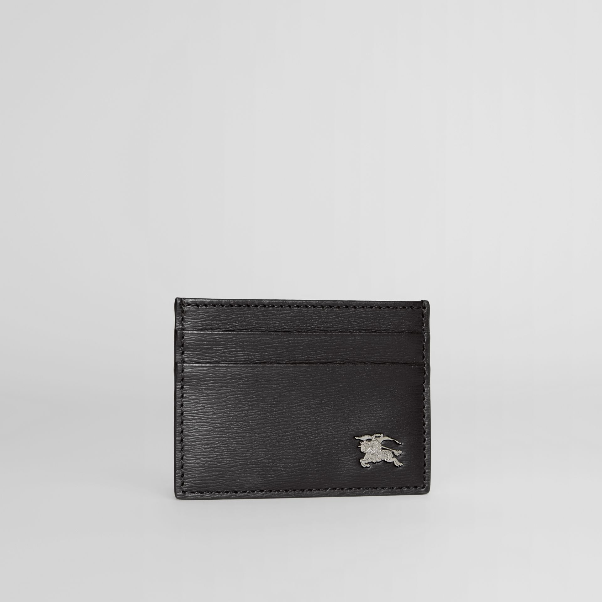 London Leather Card Case in Black - Men | Burberry - gallery image 3
