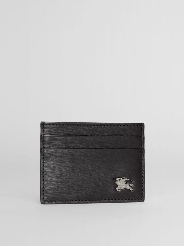 London Leather Card Case in Black - Men | Burberry - cell image 3