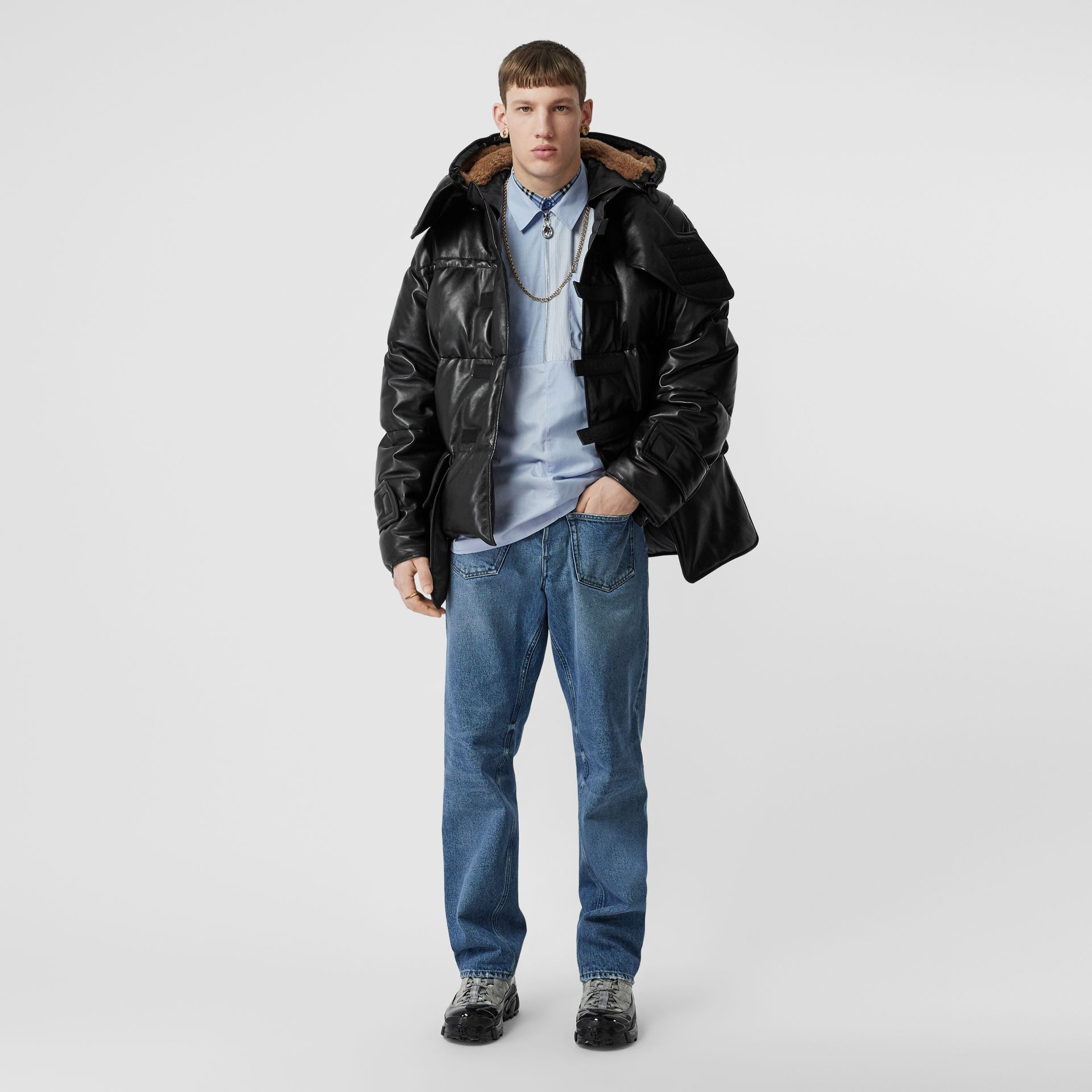 Plonge Lambskin Puffer Jacket in Black - Men | Burberry - gallery image 0