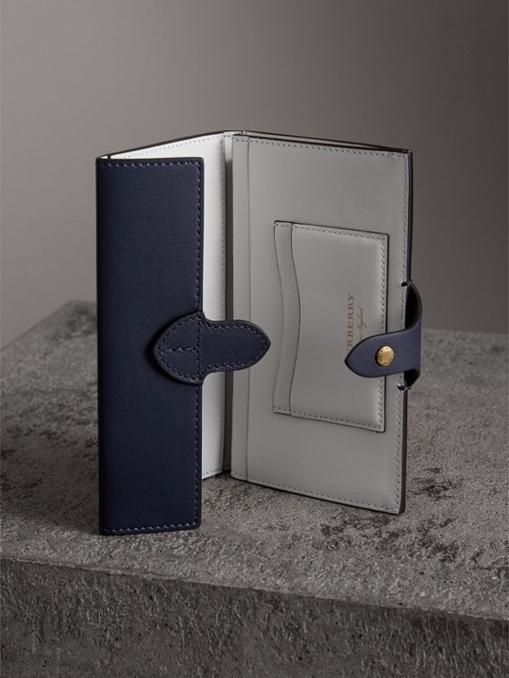 Equestrian Shield Two-tone Leather Continental Wallet in Mid Indigo - Women | Burberry United States - cell image 3