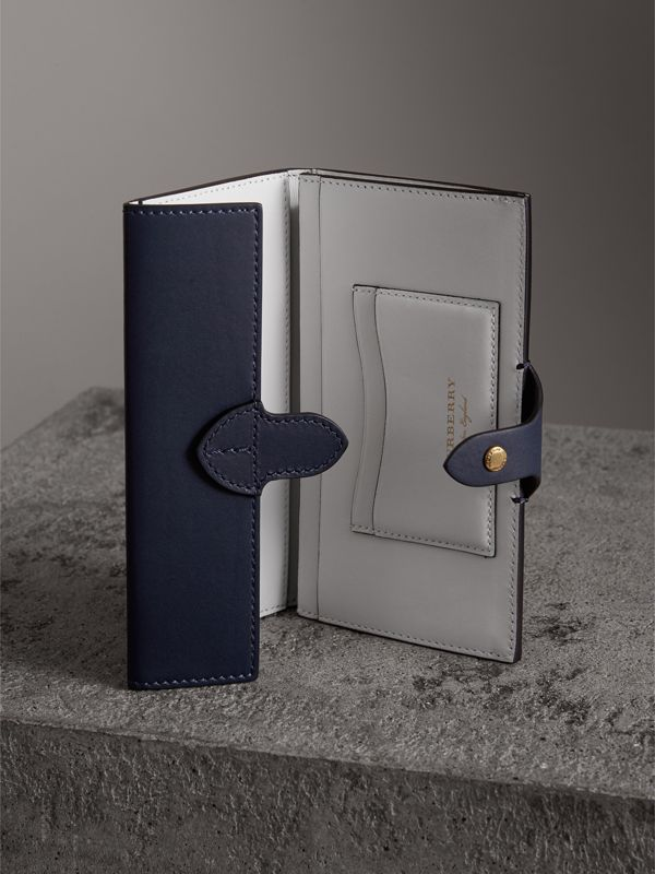 Equestrian Shield Two-tone Leather Continental Wallet in Mid Indigo - Women | Burberry United Kingdom - cell image 3