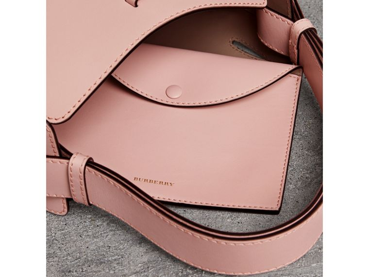 The Small Leather Bucket Bag in Pale Ash Rose - Women | Burberry - cell image 4