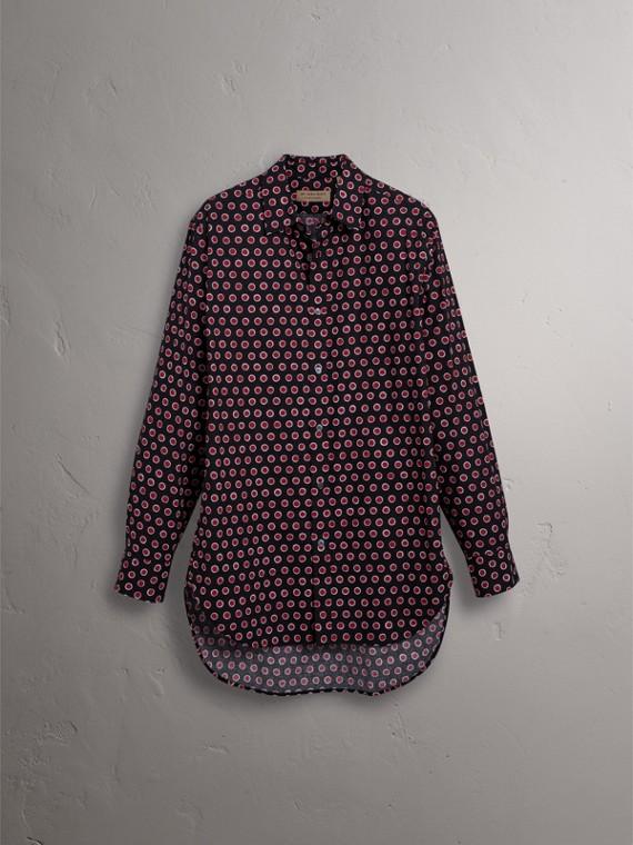 Chemise en coton avec imprimé à pois (Rouge Parade) - Homme | Burberry - cell image 3