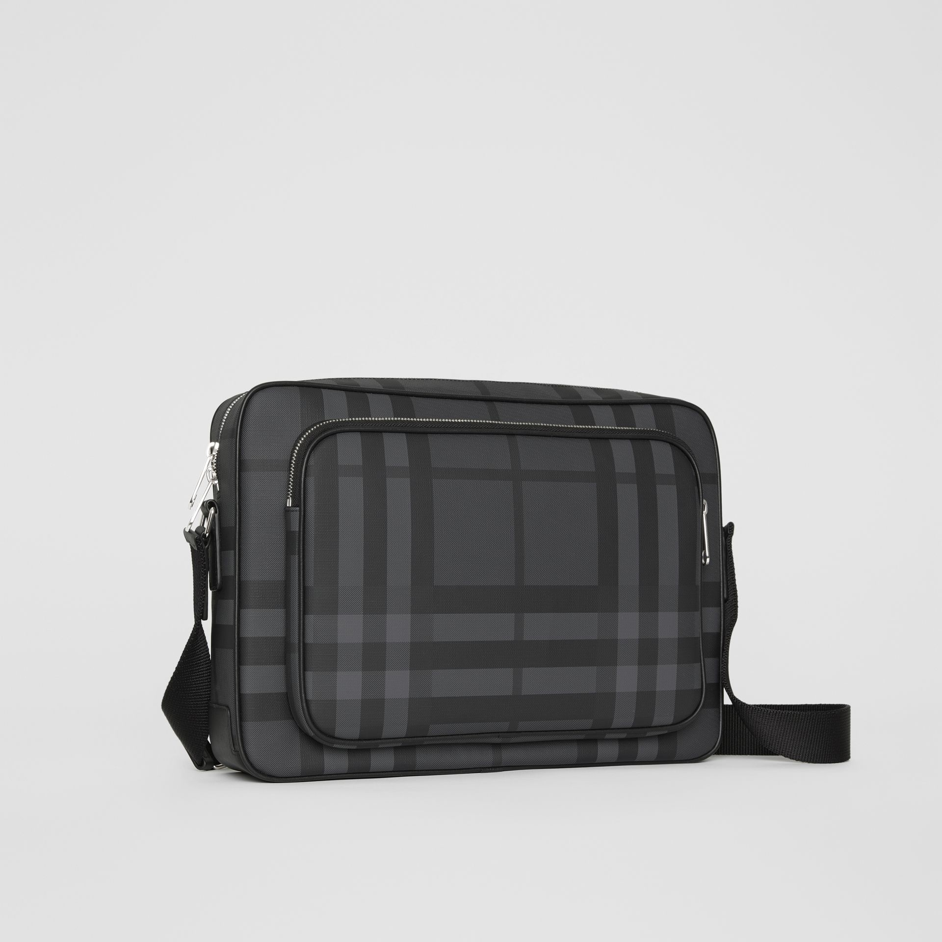 London Check Messenger Bag in Charcoal/black - Men | Burberry - gallery image 6