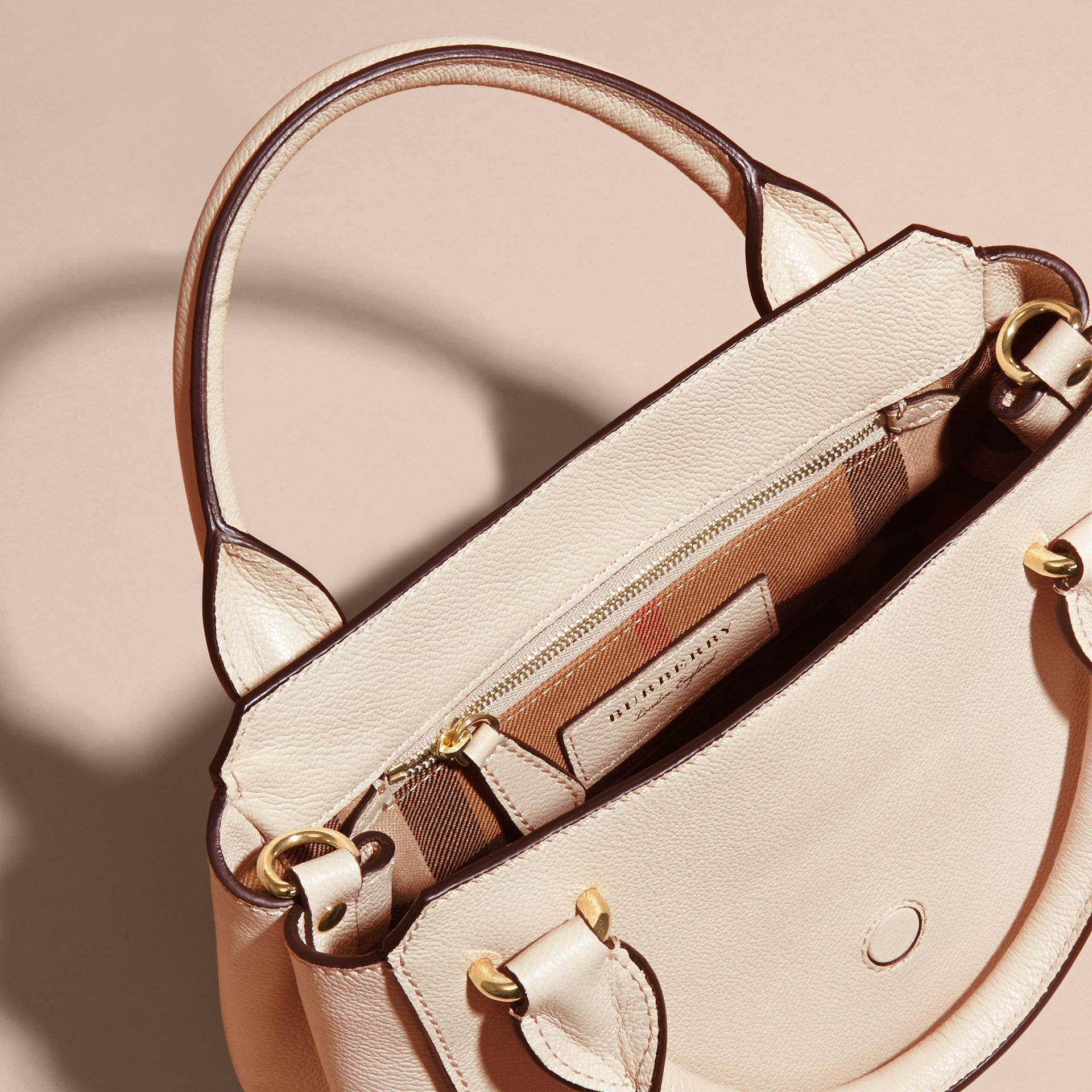 The Small Buckle Tote in Grainy Leather in Limestone - gallery image 6