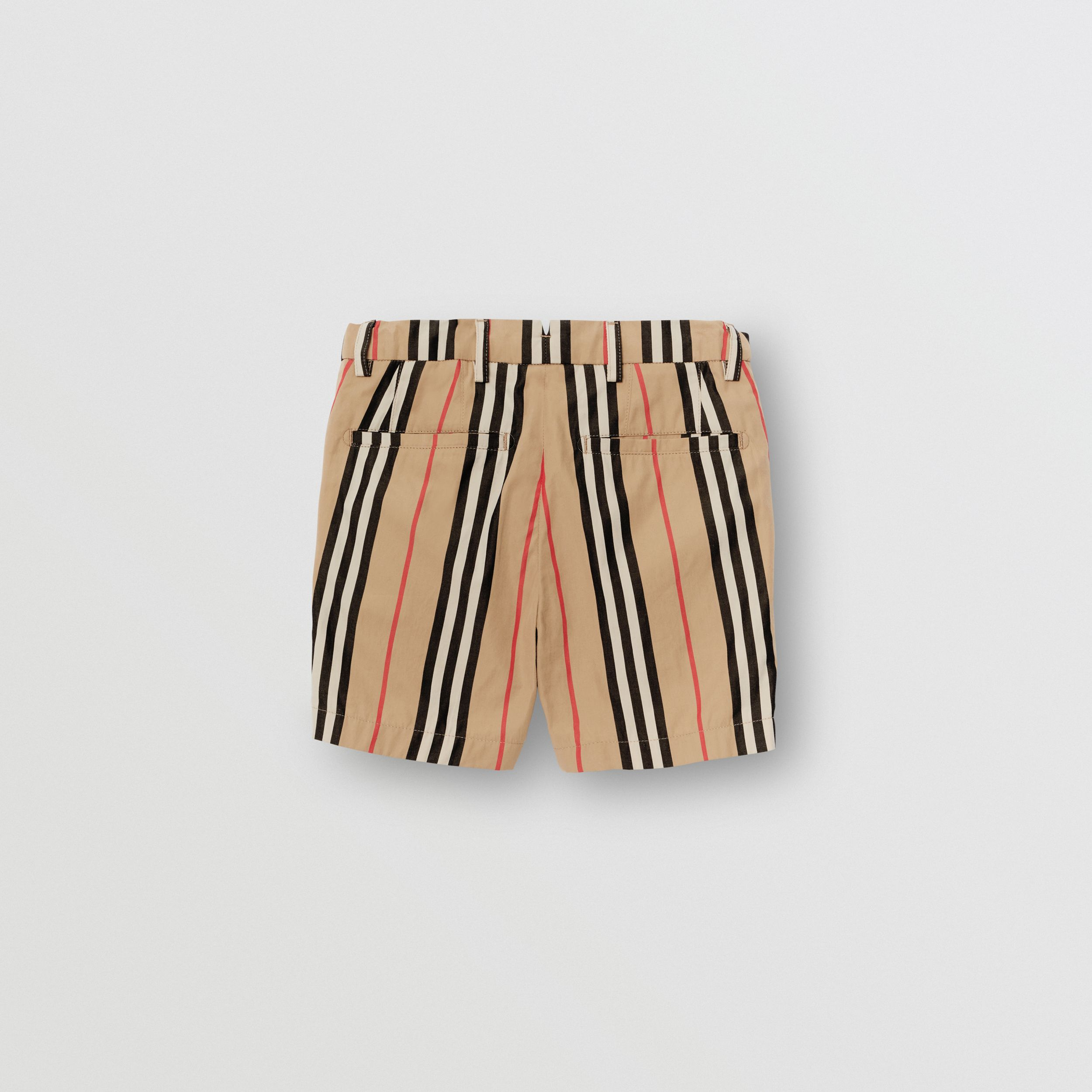 Icon Stripe Cotton Chino Shorts in Archive Beige | Burberry - 4