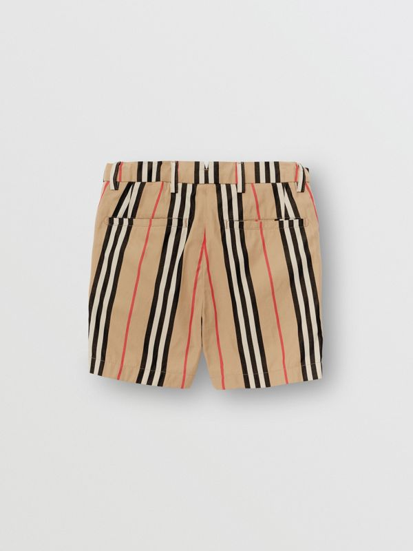 Icon Stripe Cotton Chino Shorts in Archive Beige | Burberry - cell image 3