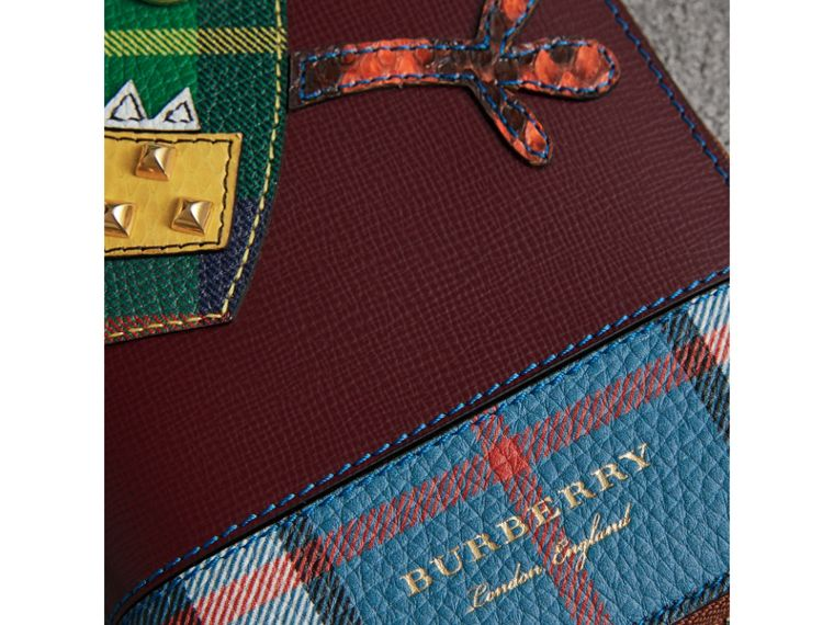 Creature Appliqué Leather Ziparound Wallet in Burgundy Red - Men | Burberry - cell image 1