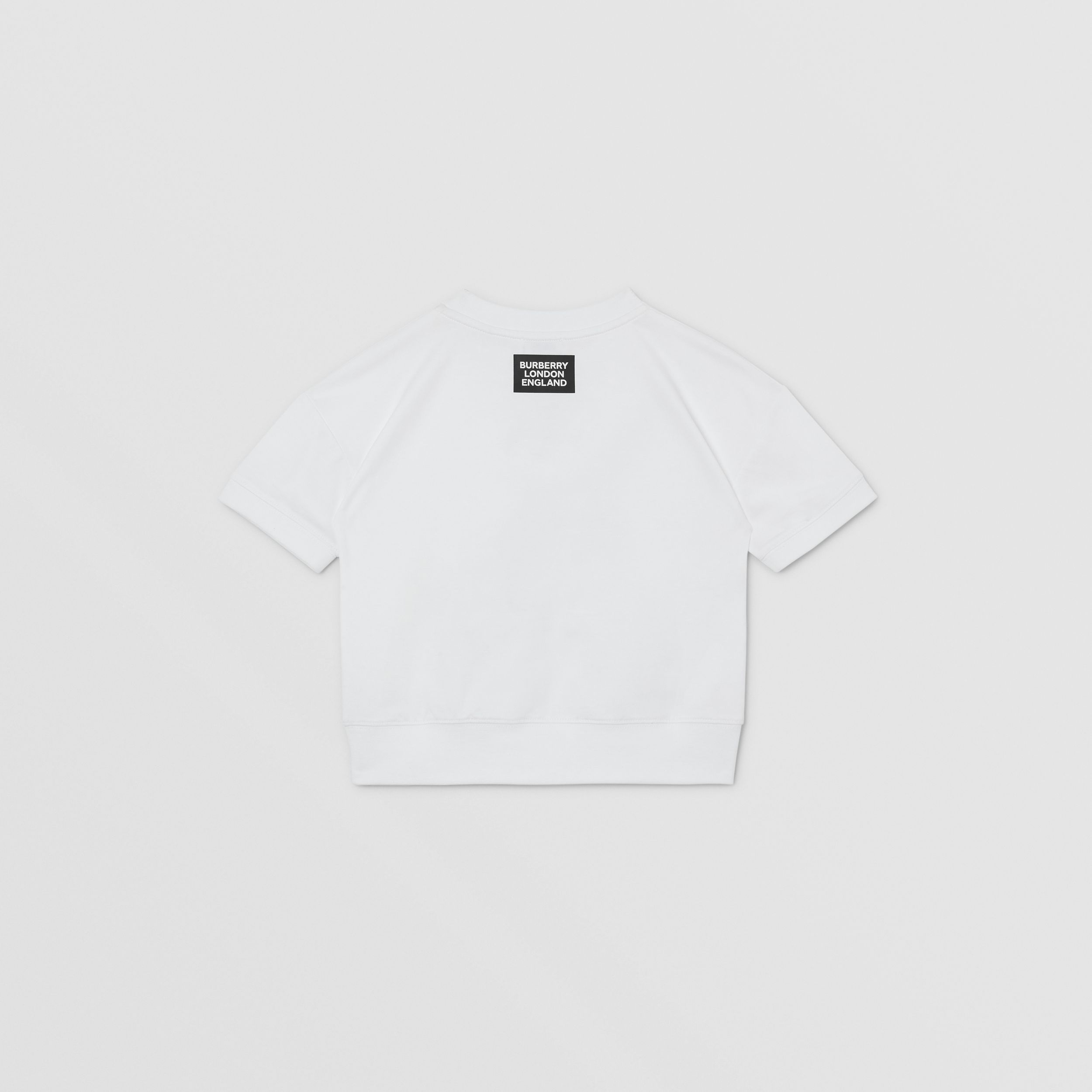 Montage Print Cotton T-shirt in White | Burberry Hong Kong S.A.R. - 4