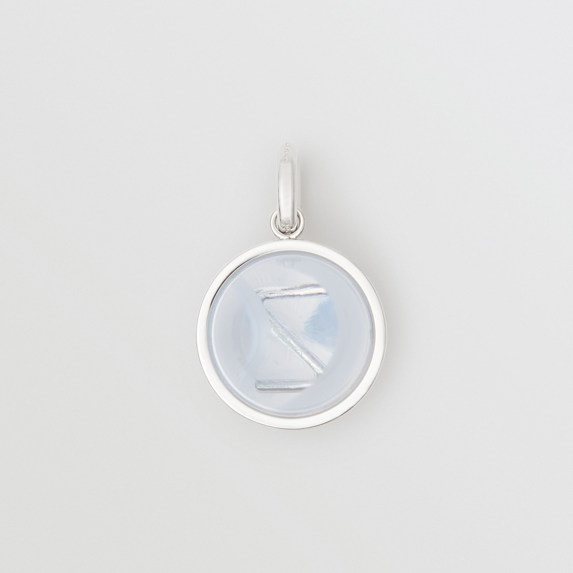 Marbled Resin 'Z' Alphabet Charm in Palladio/nacre - Women | Burberry - gallery image 1