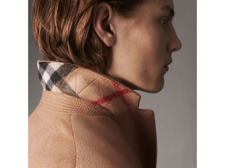 Wool Cashmere Tailored Coat in Camel - Men | Burberry Australia - cell image 1