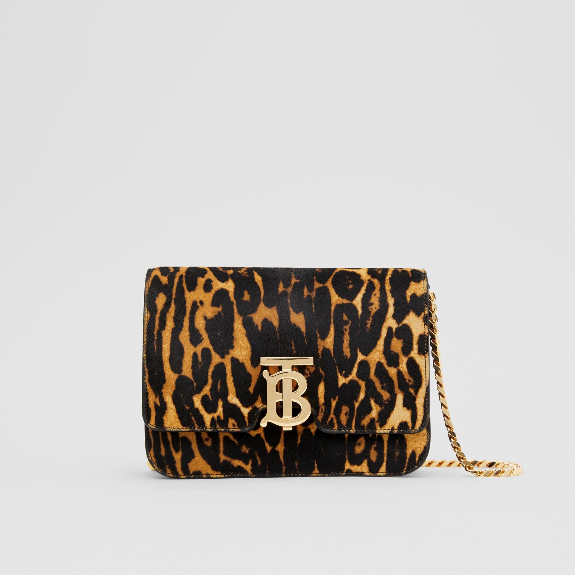 Small Leopard Print Calf Hair TB Bag in Dark Mustard - Women | Burberry Hong Kong S.A.R - gallery image 0