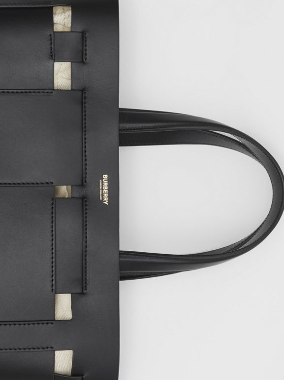 Medium Leather Foster Tote in Black - Women | Burberry Canada - cell image 1