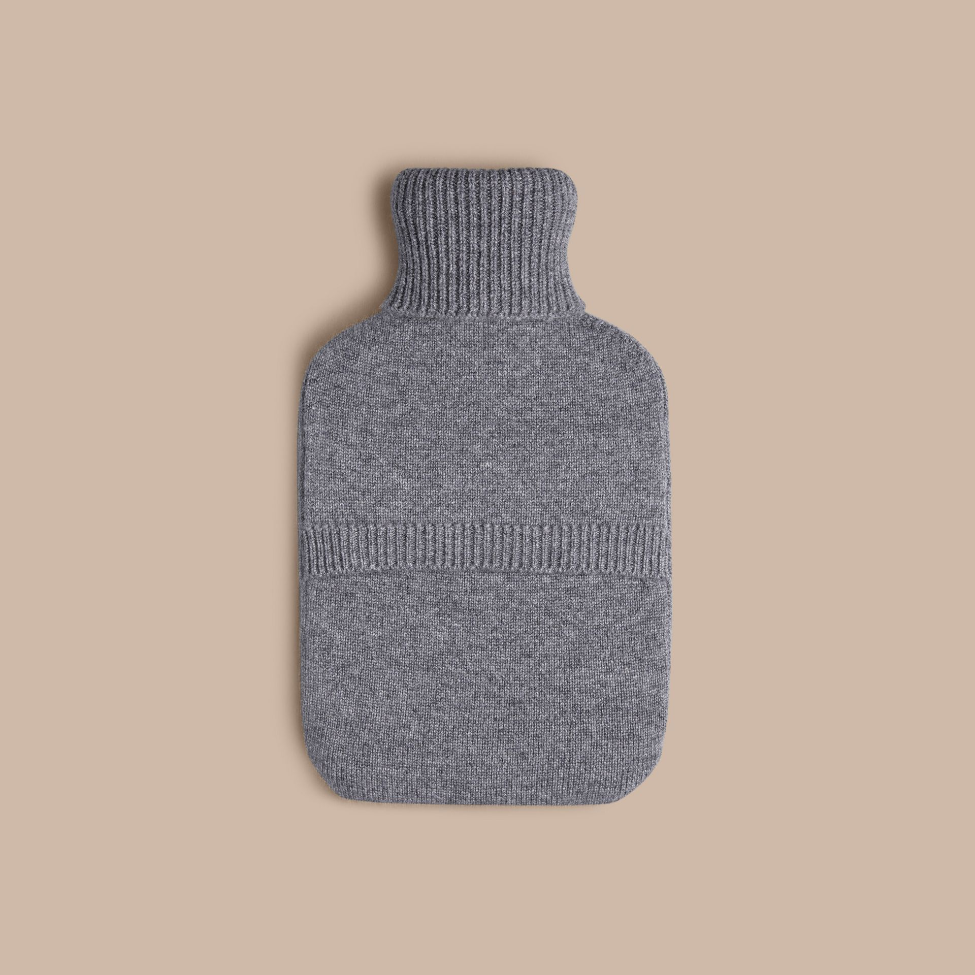 Mid grey melange The Punk Graphic Cashmere Hot Water Bottle Cover - gallery image 2