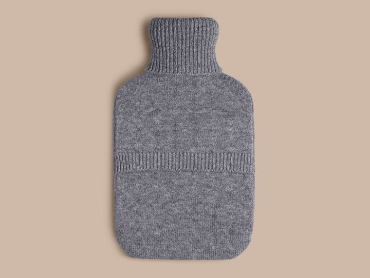 Mid grey melange The Punk Graphic Cashmere Hot Water Bottle Cover - cell image 1