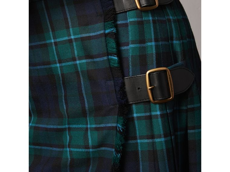 Tartan Wool Kilt in Pine Green - Women | Burberry Singapore - cell image 1