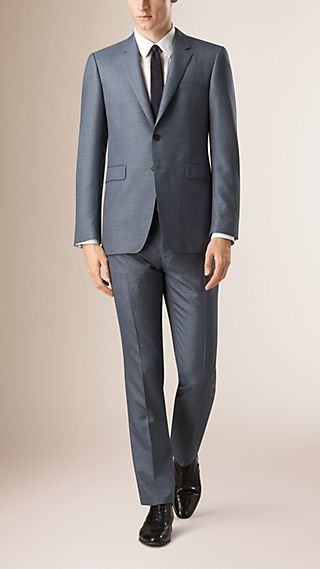 Modern Fit Wool Silk Linen Half-canvas Suit