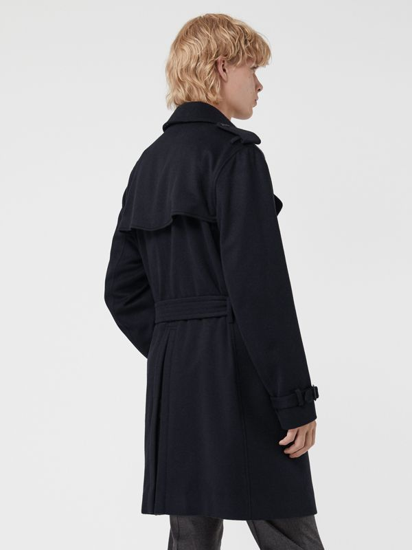 Cashmere Trench Coat in Navy - Men | Burberry Singapore - cell image 2