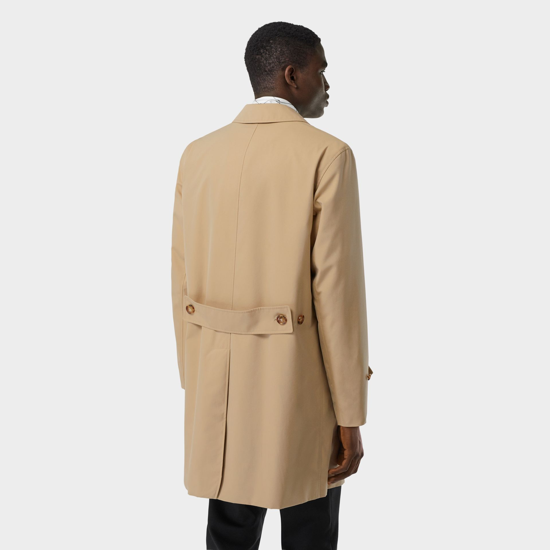 Cotton Gabardine Lab Coat in Honey - Men | Burberry - gallery image 2