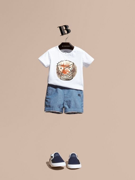 Short en Chambray de coton | Burberry