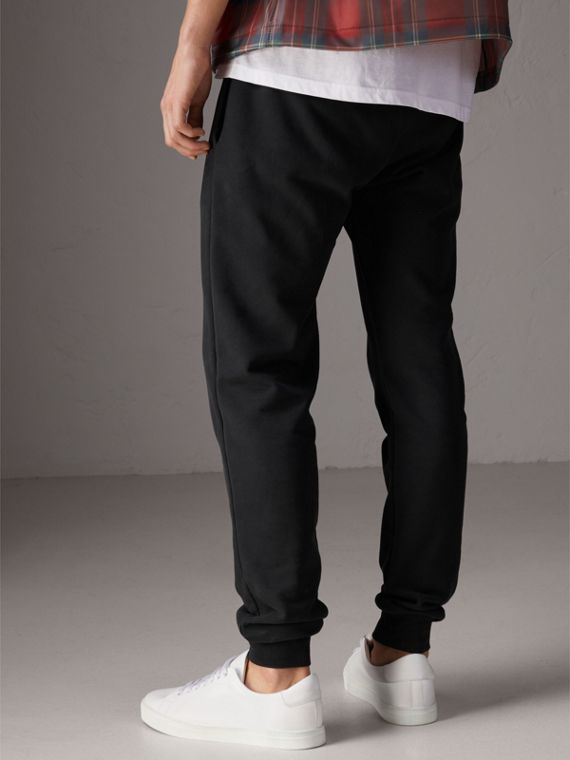 Burberry x Kris Wu Sweatpants in Black - Men | Burberry United Kingdom - cell image 2
