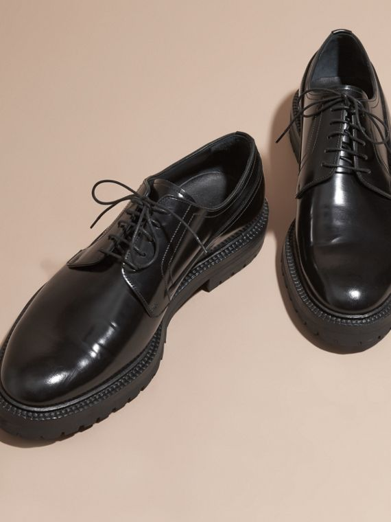 Black Leather Derby Shoes - cell image 2