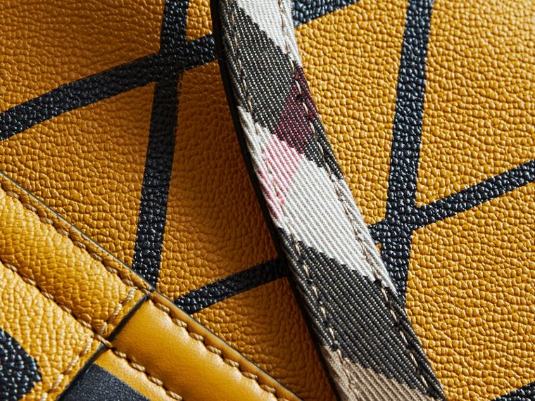 The Buckle Crossbody Bag in Trompe L'oeil Leather Bright Straw - cell image 4