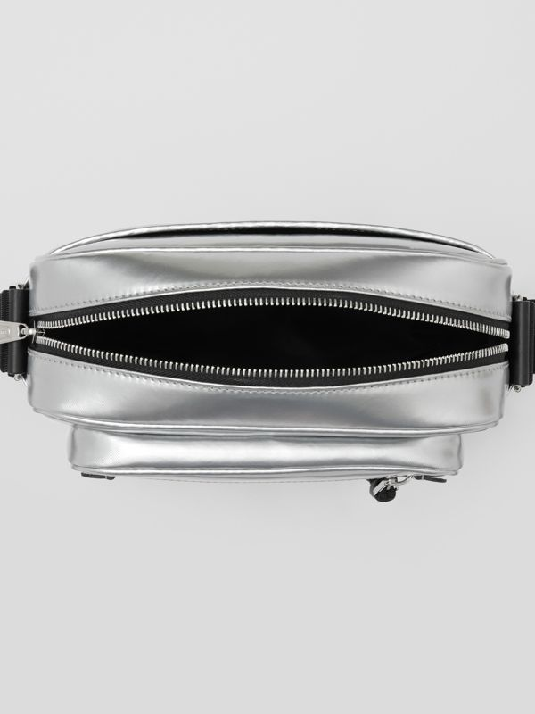 Metallic Coated Canvas Crossbody Bag in Silver - Men | Burberry Canada - cell image 3
