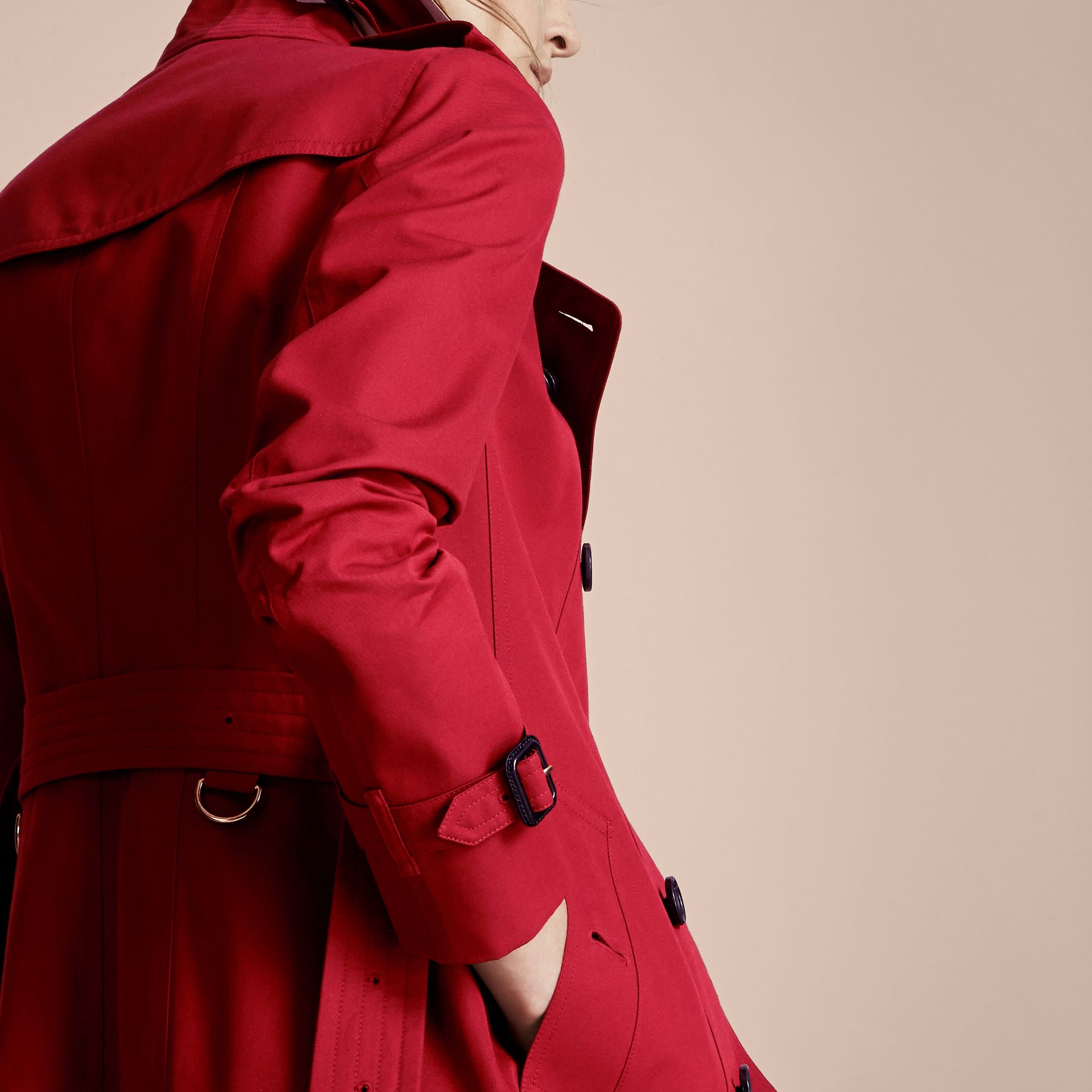 Parade red The Sandringham  – Long Heritage Trench Coat - gallery image 7