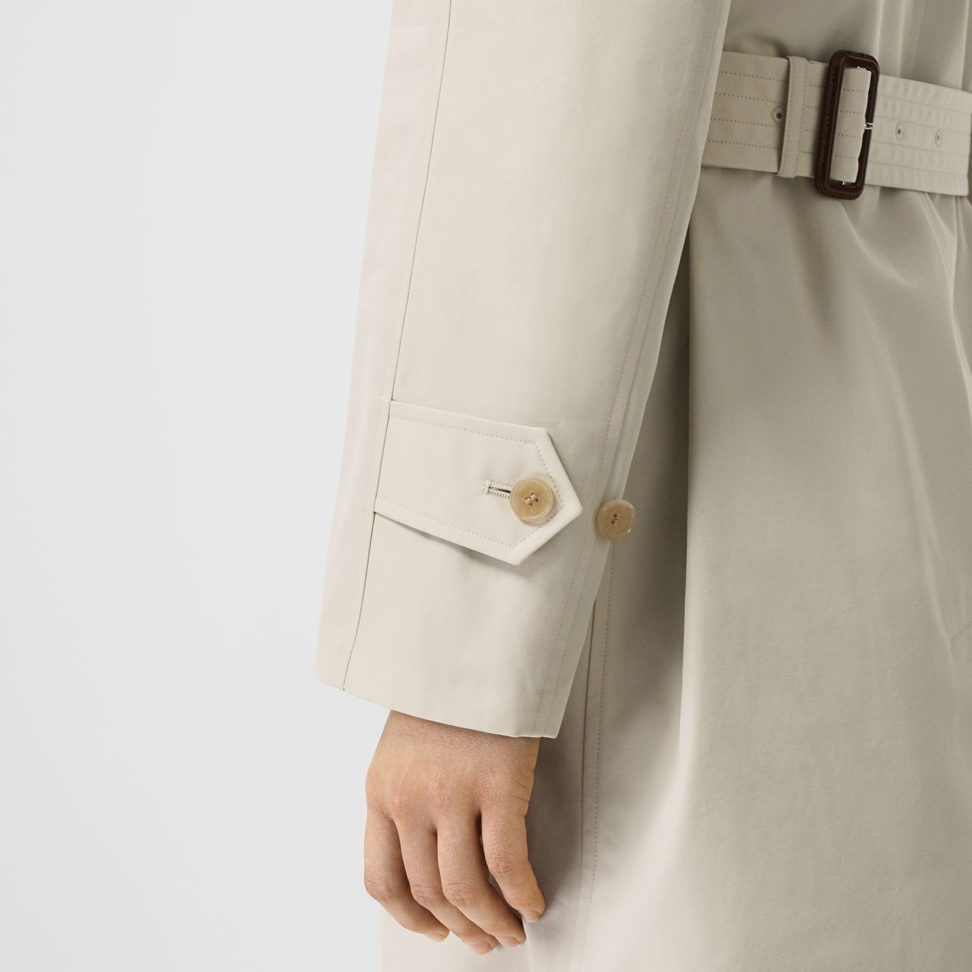 Striped Ribbon Cotton Gabardine Trench Coat in Stone - Women | Burberry United States - gallery image 5