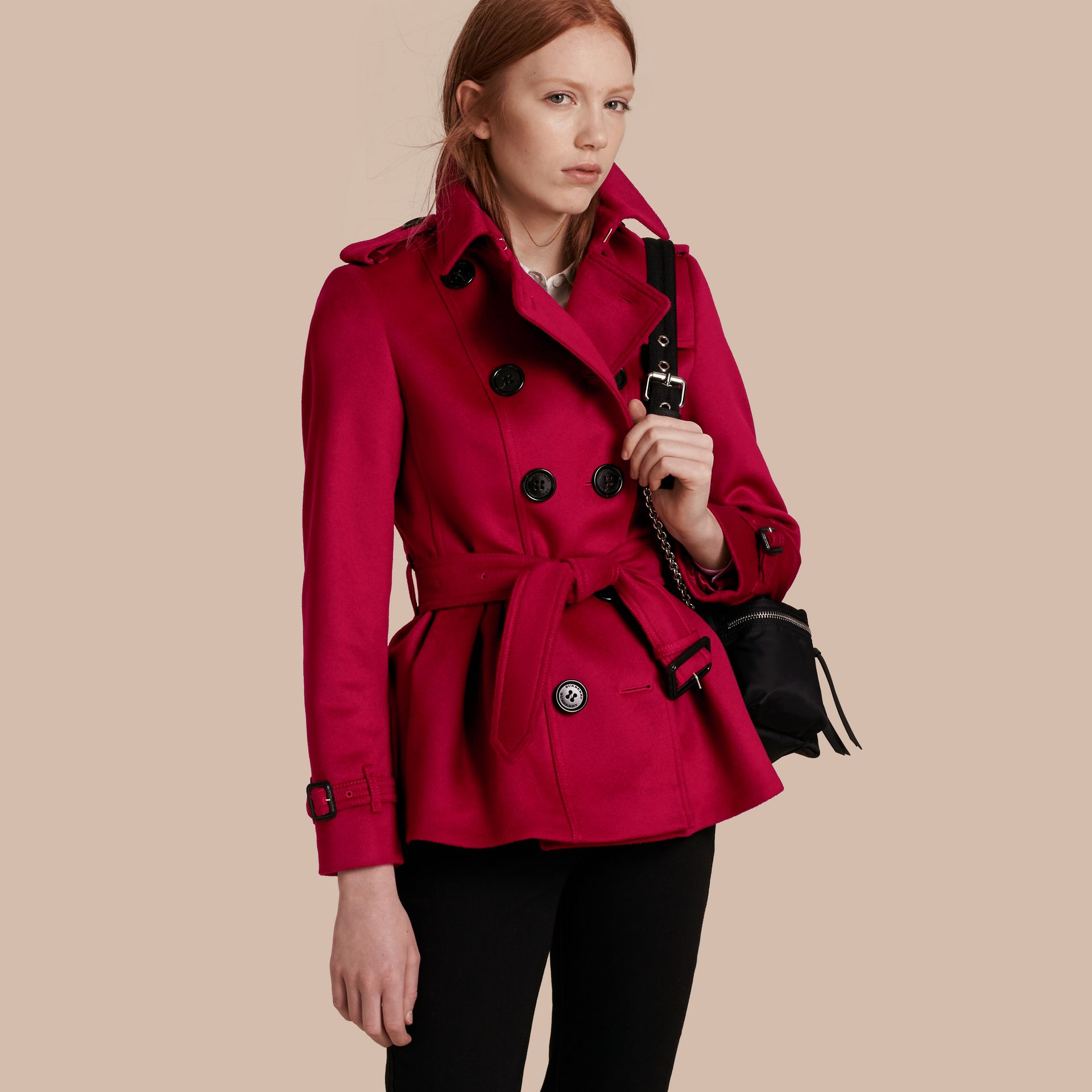 Parade red Wool Cashmere Trench Jacket - gallery image 1