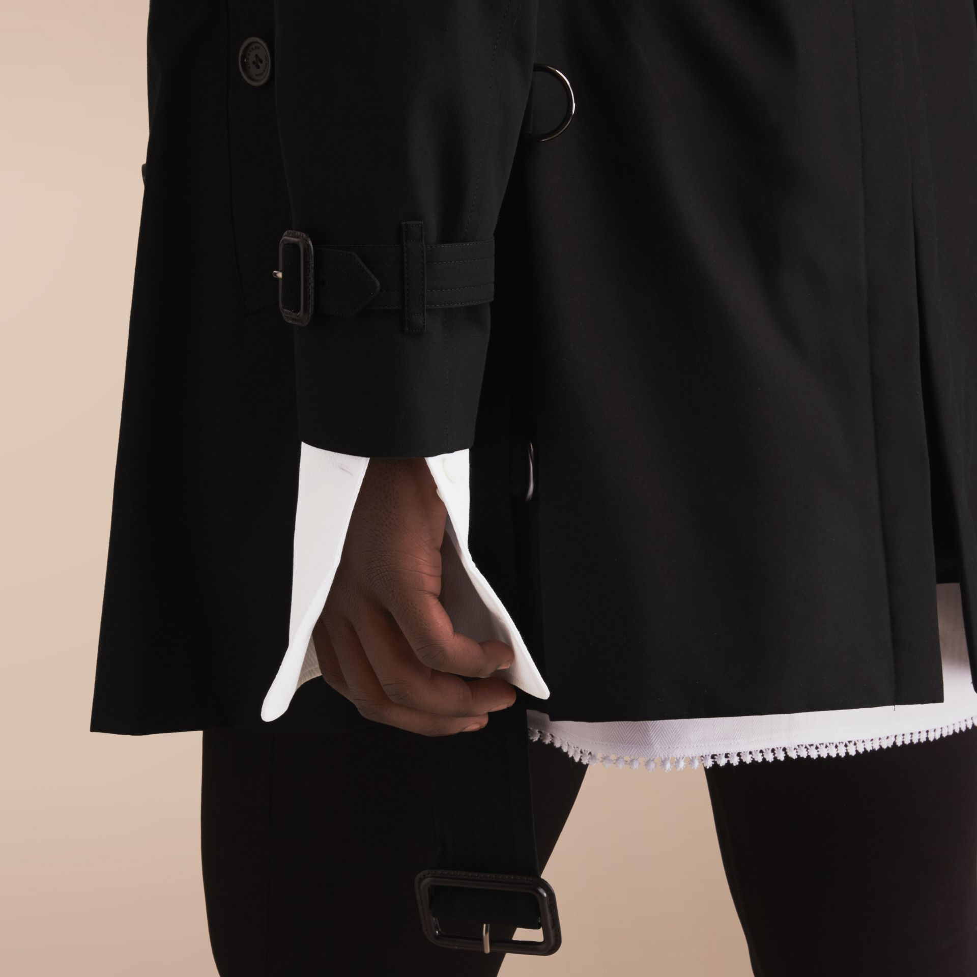 The Chelsea – Mid-length Heritage Trench Coat in Black - gallery image 6