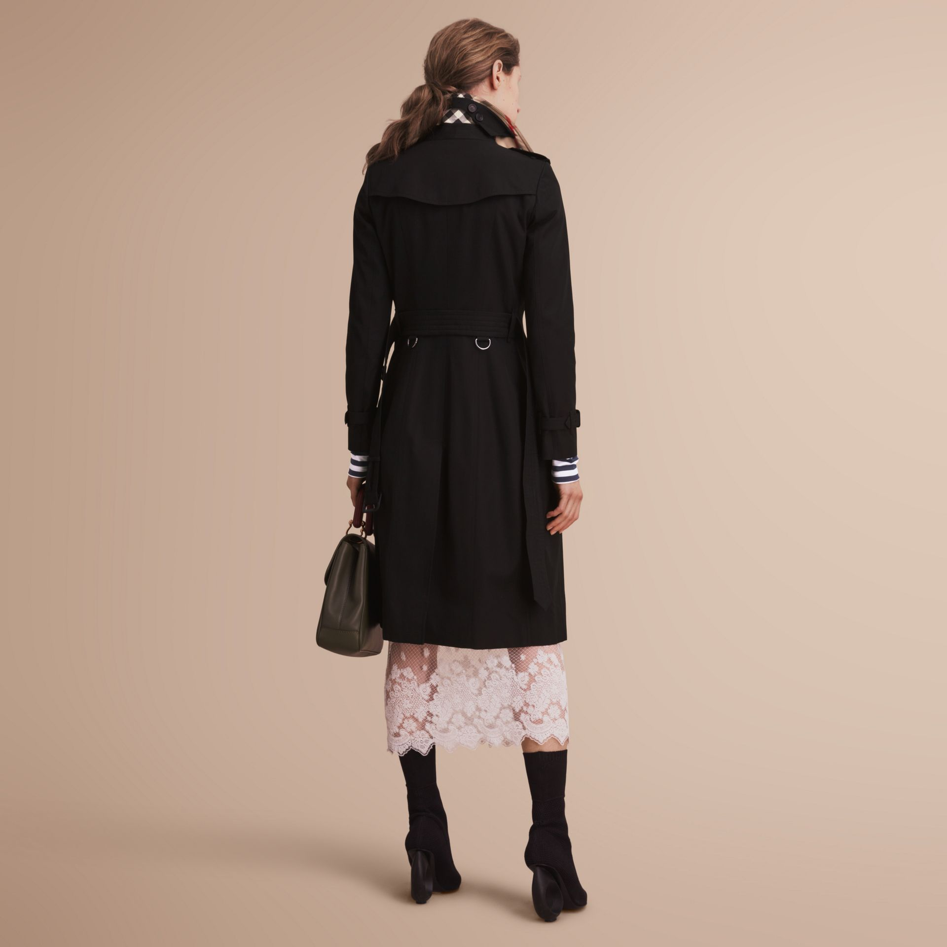The Chelsea – Extra-long Heritage Trench Coat in Black - gallery image 3