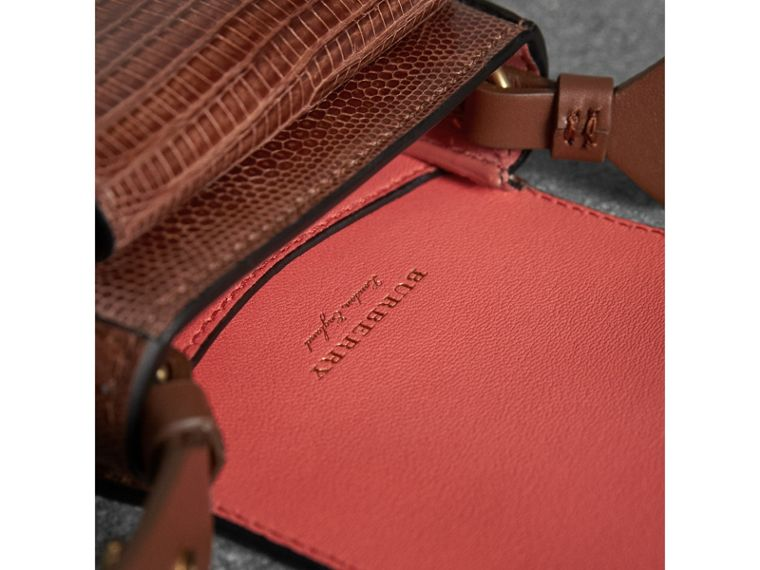 The Pocket Satchel in Lizard in Chestnut Brown - Women | Burberry Singapore - cell image 4