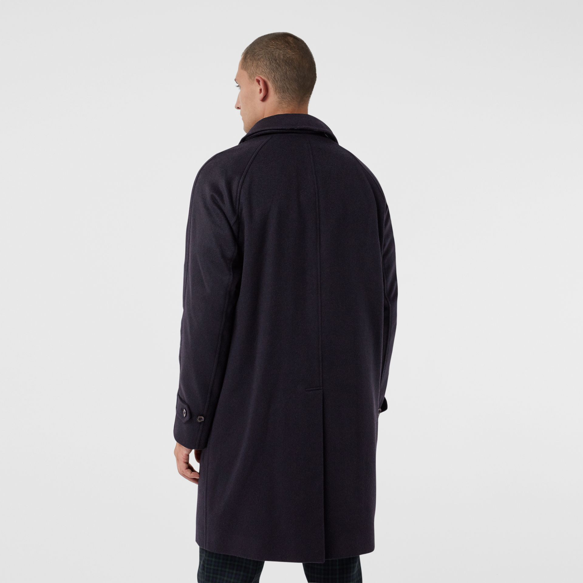 Cashmere Car Coat in Navy - Men | Burberry Singapore - gallery image 2