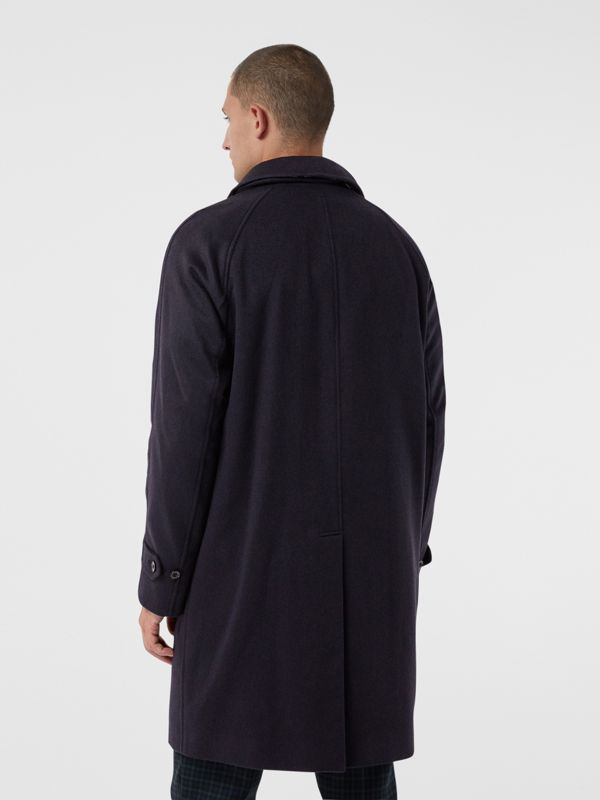 Cashmere Car Coat in Navy - Men | Burberry Singapore - cell image 2