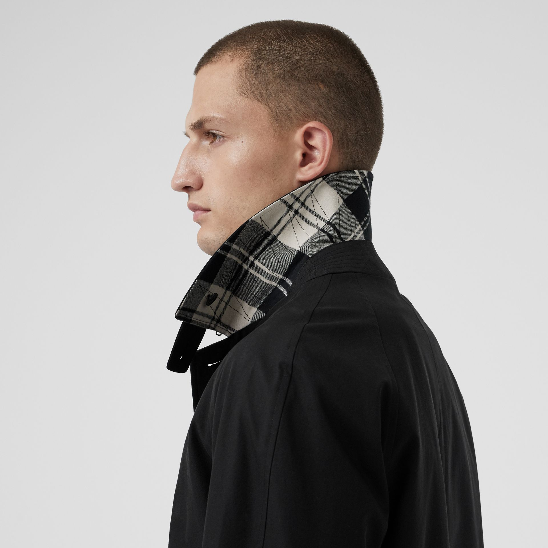 Tropical Gabardine Car Coat in Black - Men | Burberry United States - gallery image 4