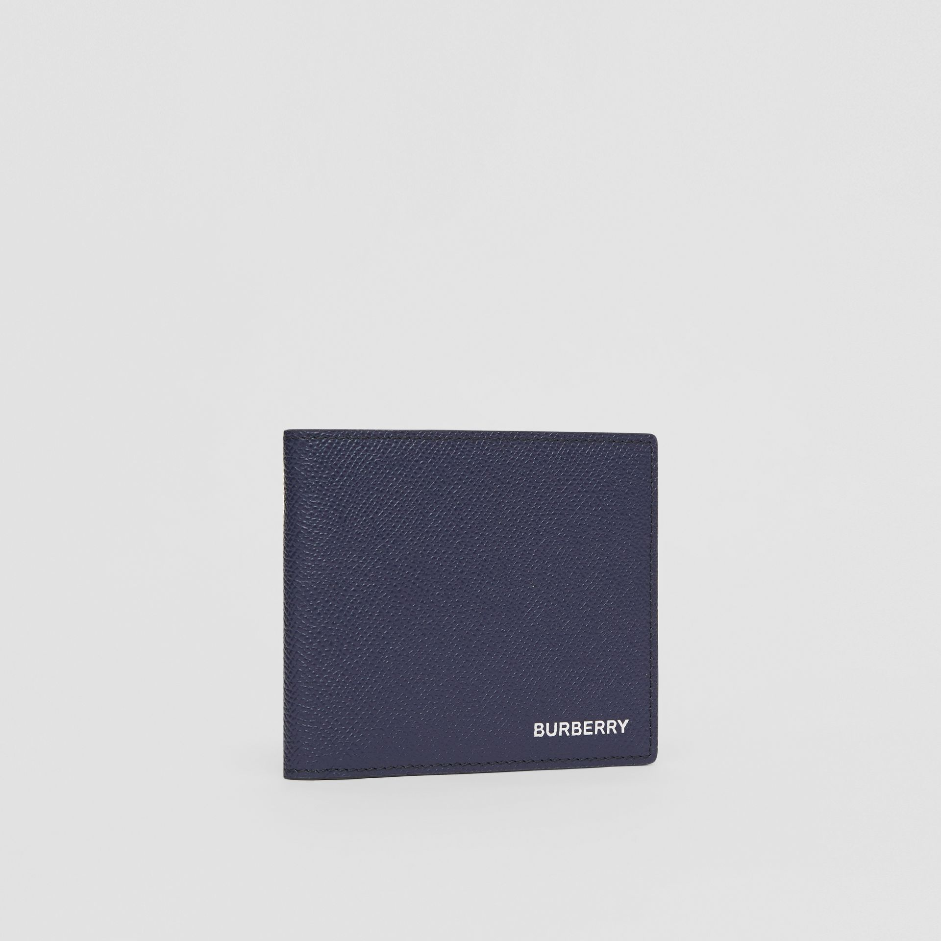 Grainy Leather International Bifold Wallet in Regency Blue - Men | Burberry - gallery image 3