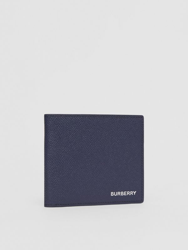 Grainy Leather International Bifold Wallet in Regency Blue - Men | Burberry - cell image 3