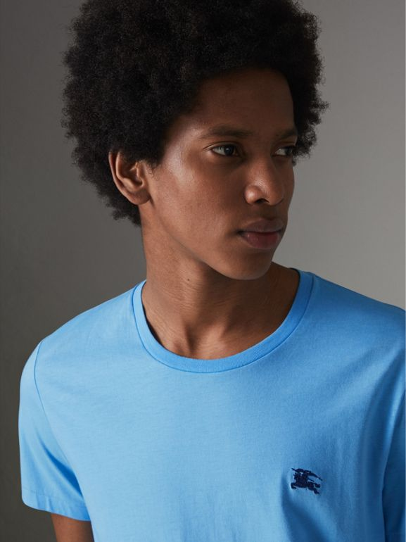 Cotton Jersey T-shirt in Blue Topaz - Men | Burberry Canada - cell image 1