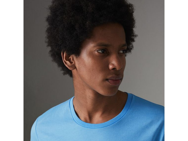 Cotton Jersey T-shirt in Blue Topaz - Men | Burberry - cell image 1