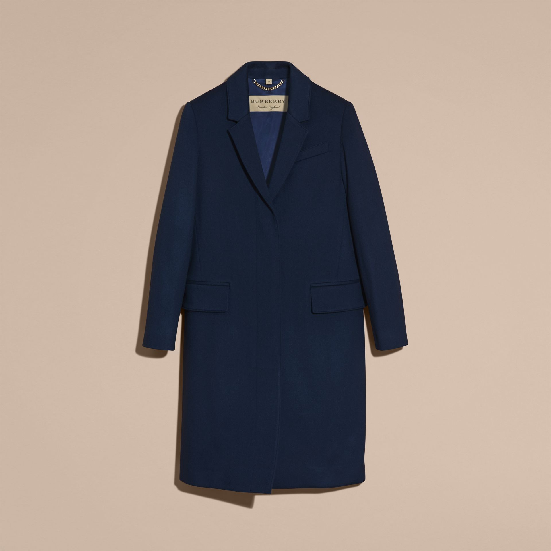 Bright navy Cashmere Tailored Coat Bright Navy - gallery image 4