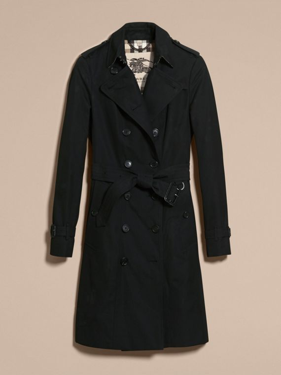 Negro Trench coat Sandringham - Trench coat Heritage largo Negro - cell image 3