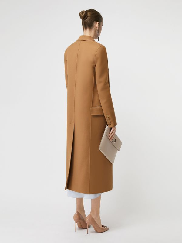 Double-breasted Wool Tailored Coat in Camel - Women | Burberry Canada - cell image 2