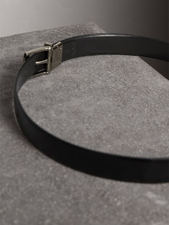Reversible Bridle Leather Belt in Black/chocolate - Men | Burberry United Kingdom - cell image 3