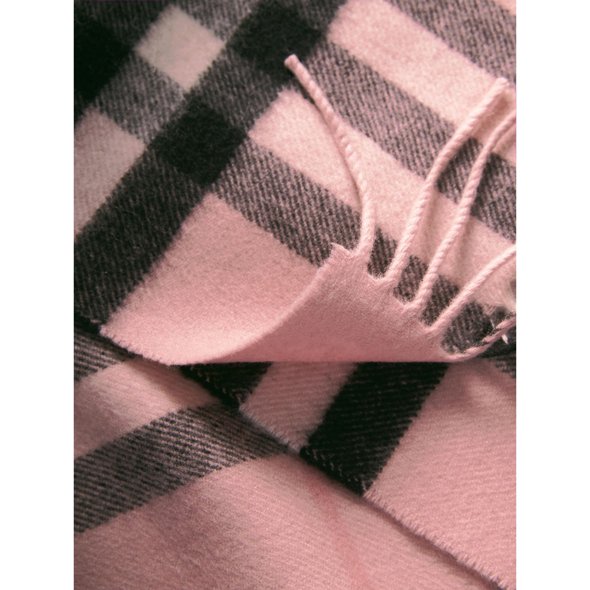 The Classic Check Cashmere Scarf in Ash Rose | Burberry Canada - gallery image 6
