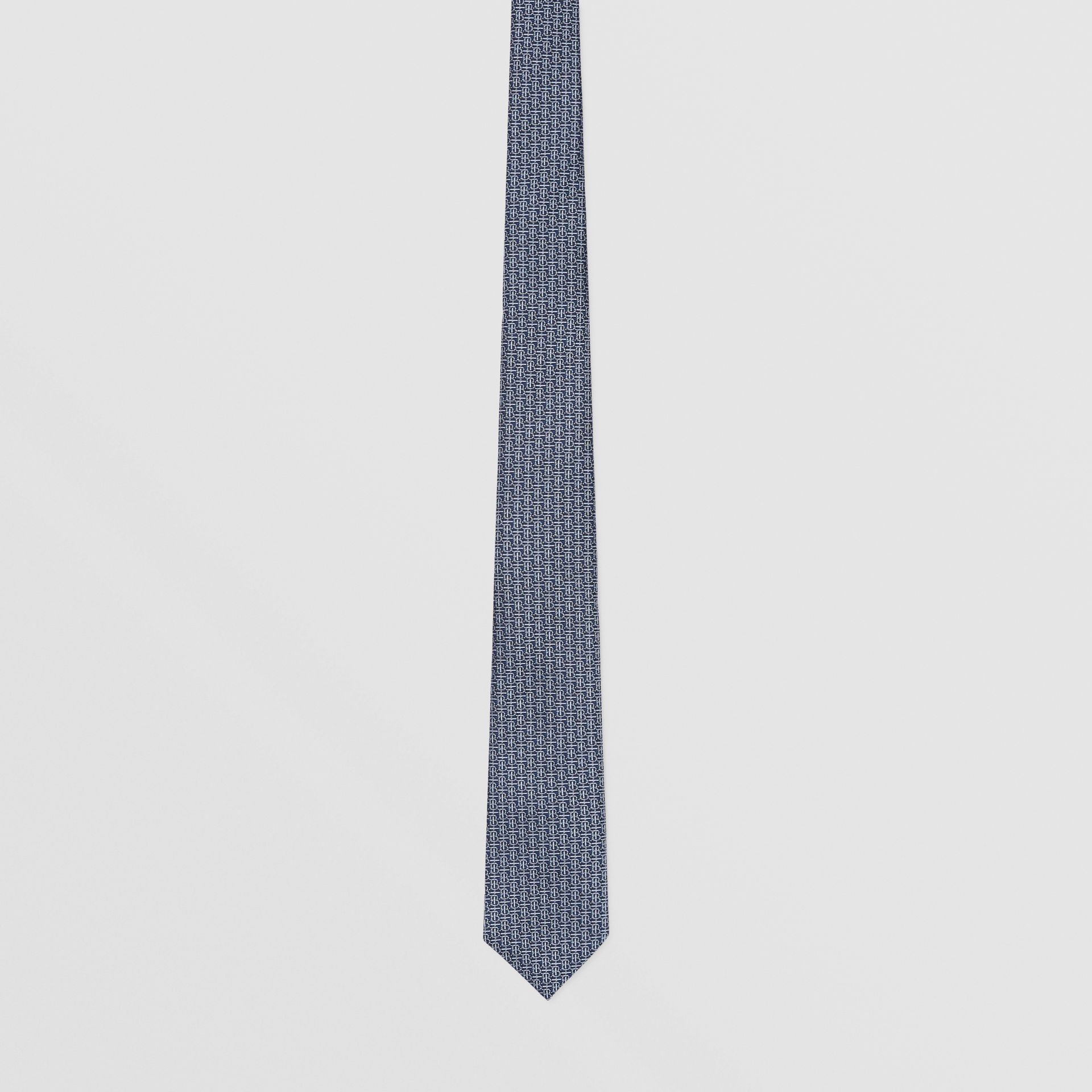 Classic Cut Monogram Silk Jacquard Tie in Sky Blue - Men | Burberry - gallery image 3