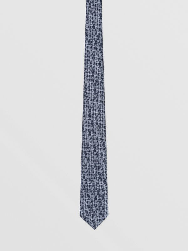 Classic Cut Monogram Silk Jacquard Tie in Sky Blue - Men | Burberry - cell image 3