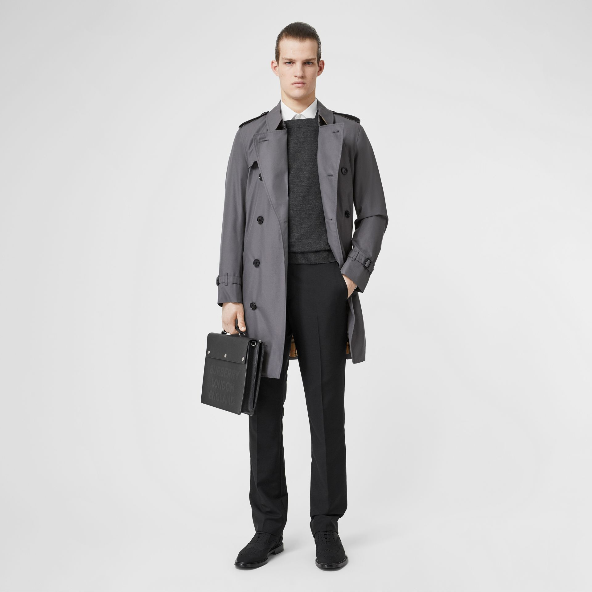 Trench Heritage The Chelsea (Gris Moyen) - Homme | Burberry Canada - photo de la galerie 0