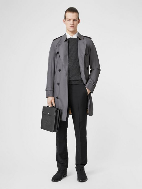 The Chelsea Heritage Trench Coat in Mid Grey